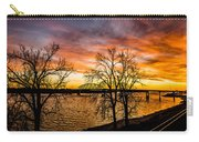 Sunset Over The Mississippi River Carry-all Pouch