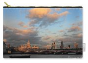 Sunset Over The River Thames London Carry-all Pouch