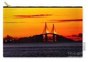 Sunset Over The Skyway Bridge Crop Carry-all Pouch
