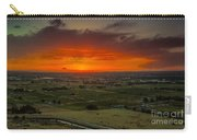 Sunset Over The Valley Carry-all Pouch by Robert Bales