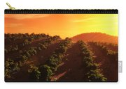 Sunset Over The Valley Carry-all Pouch