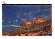 Sunset Over The Waterpocket Fold Capitol Reef National Park Carry-all Pouch