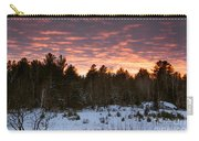 Sunset Over The Winter Forest Carry-all Pouch