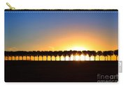 Sunset Over Tree Lined Road Carry-all Pouch