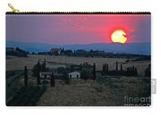 Sunset Over Tuscany In Italy Carry-all Pouch