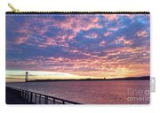 Sunset Over Verrazano Bridge And Narrows Waterway Carry-all Pouch