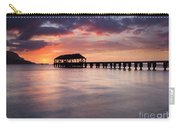 Sunset Pier Carry-all Pouch by Mike  Dawson