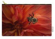 Sunset Red Dahlia Carry-all Pouch
