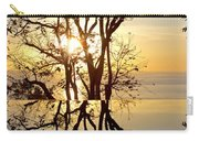 Sunset Silhouette And Reflections Carry-all Pouch