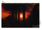 Sunset Silhouette Painterly Carry-all Pouch