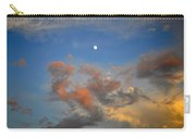 Sunset Sky With Gibbous Moon And Clouds Usa Carry-all Pouch