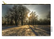 Sunset Snow Trees Carry-all Pouch