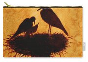 Sunset Stork Family Silhouettes Carry-all Pouch