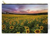 Sunset Sunflowers Carry-all Pouch by Debra and Dave Vanderlaan