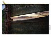 Sunset Throough The Fence Carry-all Pouch