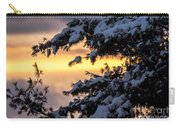 Sunset Through The Snowy Branches Carry-all Pouch