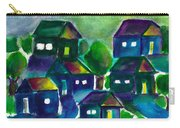 Sunset Village Watercolor Carry-all Pouch