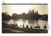 Sunset With Geese On The Thames Carry-all Pouch