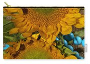 Sunshine And Turquoise  Carry-all Pouch