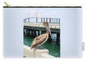 Sunshine Skyway And Pelican Carry-all Pouch by Carol Groenen