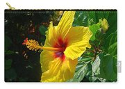 Sunshine Yellow Hibiscus With Red Throat Carry-all Pouch