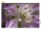 Super Close Up Of A Chive Flower Carry-all Pouch