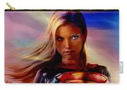 Supergirl Carry-all Pouch by Marvin Blaine