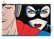 Superman And Catwoman  Carry-all Pouch by Mark Ashkenazi