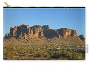 Superstition Mountain In The Evening Sun Carry-all Pouch