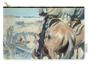 Supply Wagons Carry-all Pouch by Newell Convers Wyeth