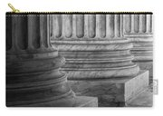 Supreme Court Columns Black And White Carry-all Pouch
