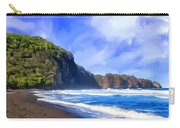 Surf At Pololu Valley Big Island Carry-all Pouch
