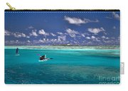 Surf Board Paddling In Moorea Carry-all Pouch