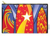 Surf Boards Retro Art Deco Carry-all Pouch