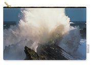 Surf Erupts On The Rocks At Shore Acres Carry-all Pouch