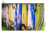 Surfboard Fence Maui Hawaii Carry-all Pouch by Edward Fielding