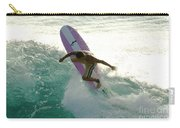 Surfer Cutting Back Carry-all Pouch