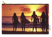Surfer Girl Silhouettes Carry-all Pouch