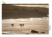 Surfers On Beach 02 Carry-all Pouch by Pixel Chimp