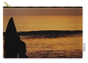 Surfing At Sunset Carry-all Pouch by Anonymous