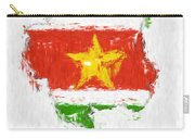 Suriname Painted Flag Map Carry-all Pouch