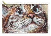 Surprised Kitty Carry-all Pouch by Olga Shvartsur