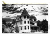 Surreal Black White Mackinac Island Michigan Infrared Victorian Home Carry-all Pouch