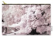 Infrared Pink Flamingo Surreal Nature - Pink Flamingos Carry-all Pouch