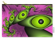 Surreal Green Eyes Fractal Carry-all Pouch