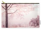 Surreal Infrared Dreamy Pink And White Park Bench Tree Nature Landscape Carry-all Pouch
