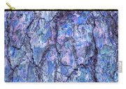 Surreal Patterned Bark In Blue Carry-all Pouch