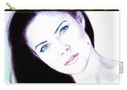 Susan Ward Blue Eyed Beauty With A Mole II Carry-all Pouch