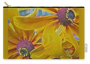 Susan's Extreme Make-over - Abstract Floral - Macro Black-eyed Susans Carry-all Pouch