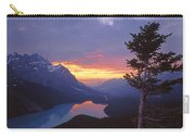 1m3607-sunset Over Peyto Lake Carry-all Pouch